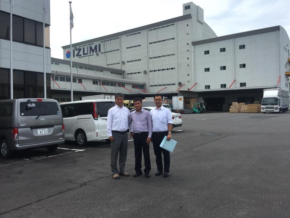Lãnh đạo Vimexcom làm việc trực tiếp tại nhà máy sản xuất bên Nhật