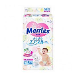 Bỉm dán Merries size L54 từ 9-14kg
