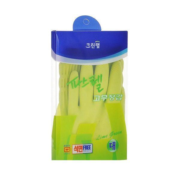 Găng tay cao su Latex màu xanh lá cây, loại trung 8801252046929